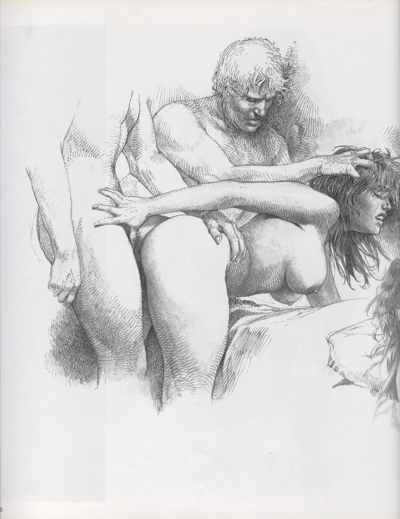 Black and white fantasy sex drawings erotic picture